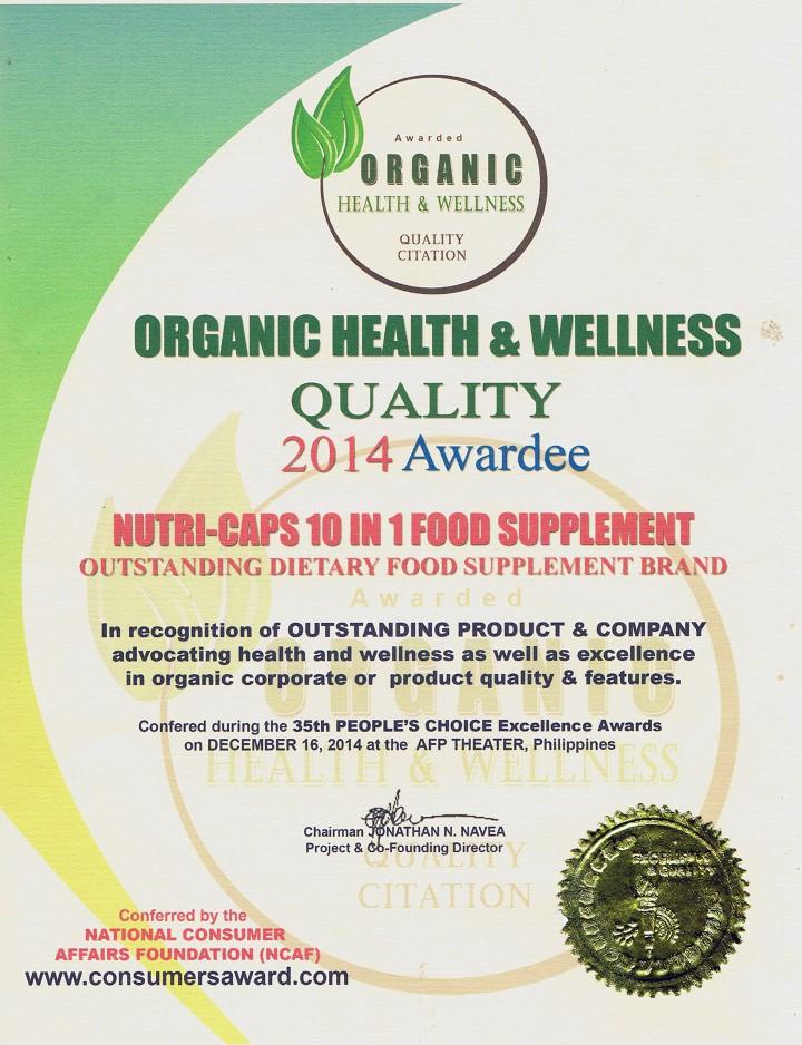 Nutri Caps 10 In 1 Food Supplement Nutri Health International